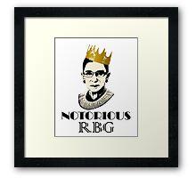 Notorious RBG Framed Print