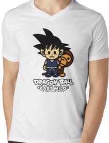 Baby Milo X DBZ Mens V-Neck T-Shirt