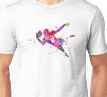 american football player catching ball Unisex T-Shirt