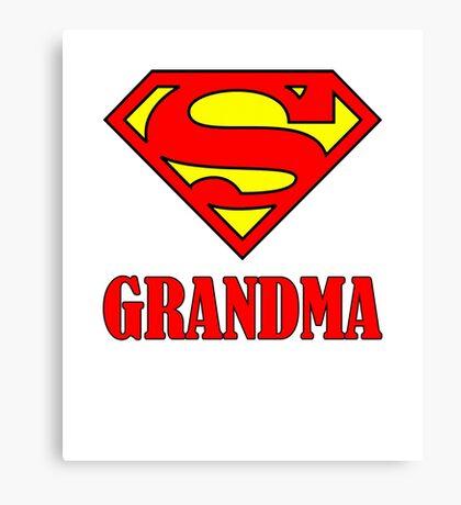 Super Grandma Canvas Print