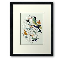 Chained birds Framed Print