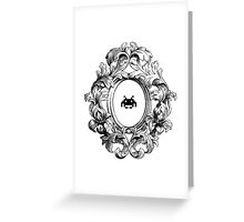 Rococo Invader Greeting Card