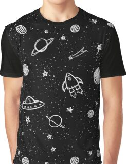 Doodle Galaxy Graphic T-Shirt