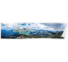 Beautiful view of the Mountain Poster