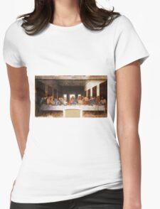 The Last Supper by Leonardo Da Vinci Womens Fitted T-Shirt