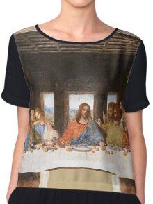 The Last Supper by Leonardo Da Vinci Chiffon Top