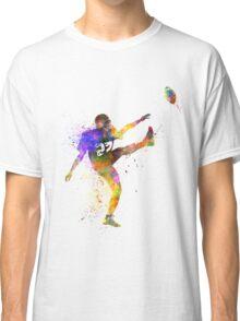 american football player man kicker kicking Classic T-Shirt