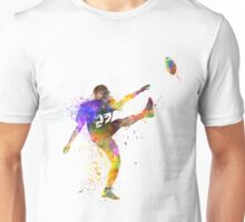 american football player man kicker kicking Unisex T-Shirt