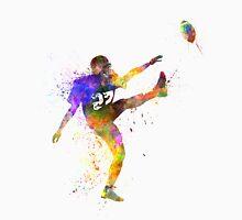 american football player man kicker kicking Unisex T-Shirt