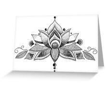 Graceful Lotus Greeting Card