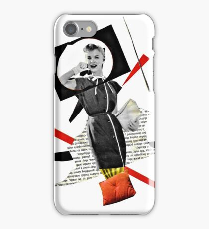 Fashion Splash Number One: On the phone to Paris iPhone Case/Skin