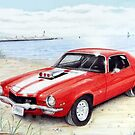 Z-28 Camero at the lake by Margaret Harris