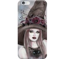 Autumn berry witch fantasy art by Renee Lavoie iPhone Case/Skin
