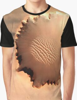 Victoria Crater, Mars Graphic T-Shirt