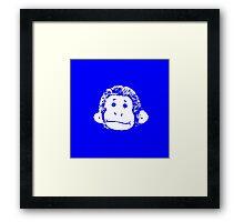 Truck Stop Bingo - Blue Framed Print