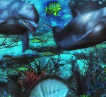 Dolphin's Under The Sea  2 Sticker
