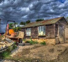 West Mersea Oyster Shed by Nigel Bangert