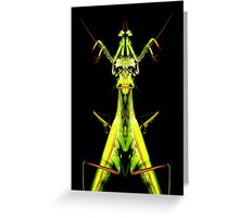 mantis king Greeting Card