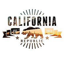 California Skyline Photographic Print