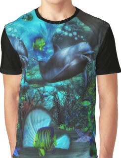 Dolphin's Under The Sea  2 Graphic T-Shirt
