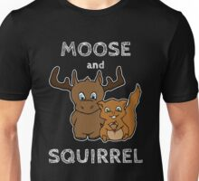 Moose and squirrel with text Unisex T-Shirt