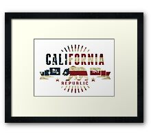 California Stars and Stripes Framed Print