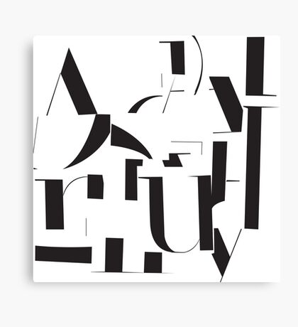 Typography Pattern Canvas Print