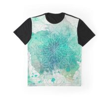Watercolor Mandala Graphic T-Shirt