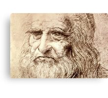 Leonardo Da Vinci Self portrait Canvas Print