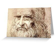 Leonardo Da Vinci Self portrait Greeting Card