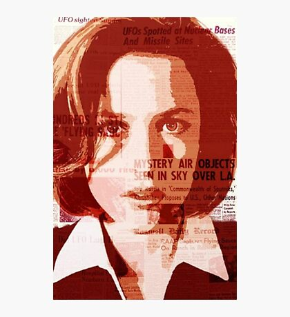 Dana Scully - The X-Files Photographic Print