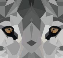 Crystalline Wolf Sticker