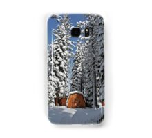 Snow-Flocked Trees and Shed Samsung Galaxy Case/Skin