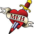 Meh Tattoo Sticker by DetourShirts