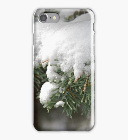 Snow-Flocked Pine Boughs iPhone Case/Skin