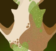 Mossy fox Sticker