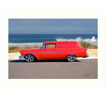 1956 Chevrolet Delivery Sedan Art Print