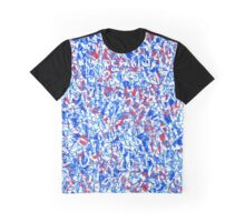 Bleu Blanc Rouge Graffiti Graphic T-Shirt