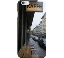 Steig Larsson Stockholm Street Cafe Photo iPhone Case/Skin