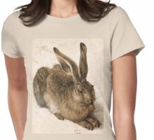 Young Hare by Albrecht Durer Womens Fitted T-Shirt
