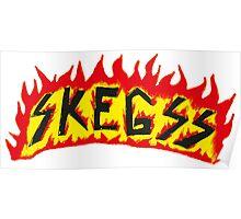 Skegss Fire Logo Poster