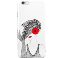 Tangled Hat Lady iPhone Case/Skin