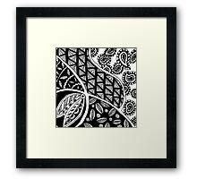 Cornered Paisley Framed Print