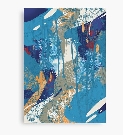 Floral Jungle 01 Canvas Print