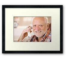 Harold calling your B Framed Print