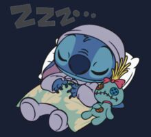 Sleeping Stitch Kids Tee