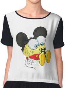 spongebob mickey Chiffon Top