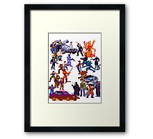 Badass 80's  Battle Framed Print