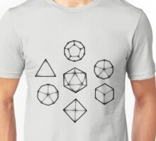 Dot Work Role Playing Dice - Black Unisex T-Shirt