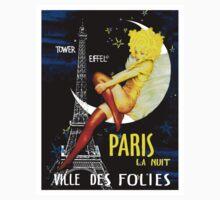 """PARIS"" Vintage Follies Travel Print One Piece - Long Sleeve"